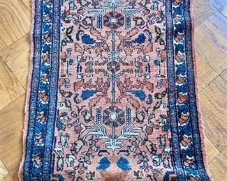"$175 - Hamadan rug #1 -wear consistent with age and use  47"" x 28.5"""