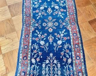 "$300 - Sarouk rug #2 -  wear consistent with age and use - 64.5"" x 29.5"""