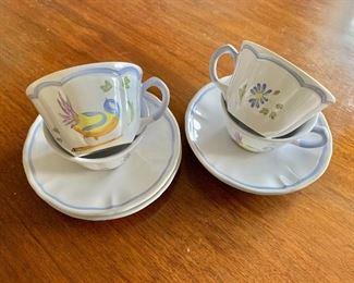 $40 - Longchamp bird teacups #2; 4 teacups and 4 saucers