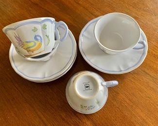 Longchamps bird teacups #2 detail