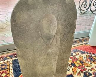 "$275 - Buddha carved stone relief; 20"" H x 11"" W x 8"" D"