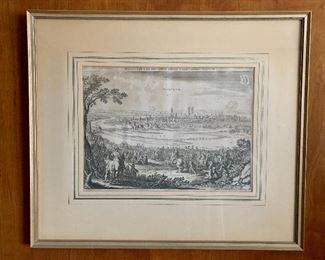 """$125 -Framed engraving,  Munich; 17.5"""" H x 20.5"""" W"""