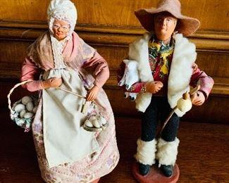 """$100 - Ceramic figural man and woman; 11"""" H"""