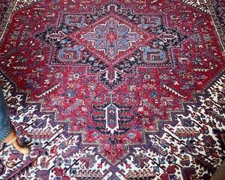 """$1,500 - 20th century hand woven Heriz (Iran) rug; 117"""" x 8'4"""""""