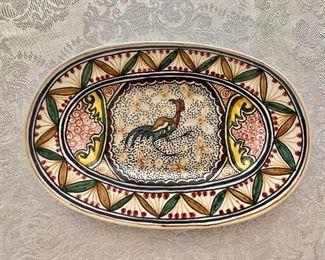"""$30 - Arte Ceramica hand painted plate - 7.5"""" x 5"""""""