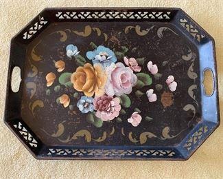"$60 - Vintage Toll tray; 22"" (L) x 16"" (W)"