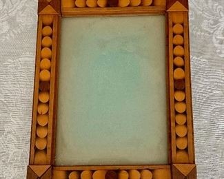 "$40 -Vintage inlay frame - 5.5"" x 7"""