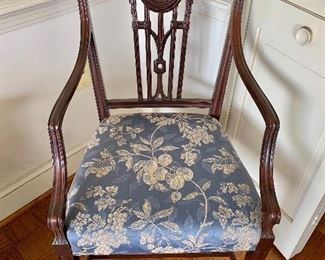 "$995 - Set of 4 Federal style, carved splat arm chairs 20""D x 22"" W x 39"" H - seat height 19"""