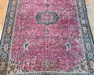 """$1,400 - Sarouk Farahan rug; 6'7"""" x 4'4"""""""