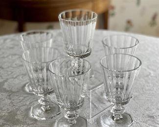 "$240 - Set of 6 Ralph Lauren ""Celeste"" wine goblet; 6"" (H)"