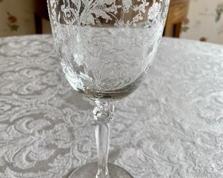"$140 -Set of 14 -  Fostoria ""Buttercup"" Wine glasses; 8"" (H)"