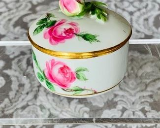 $60 - Meissen trinket box with lid; approx 2""