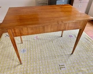 "$950 - Antique Biedermeier work table with single large drawer - 28.5""D x 45W x 31H"