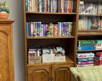 2 Wood Bookcases