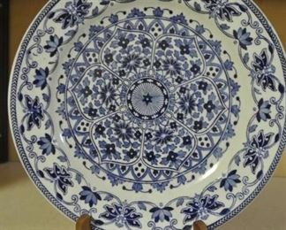 1870s Booths TGB Pottery Blue and White Ironstone Plate