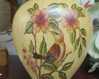 Artfully Styled Fall Flower Arrangement in Bird Vase