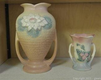 Beautifully Hull Pottery Vases