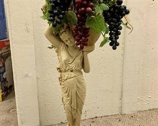 Grape Harvest Woman Statue