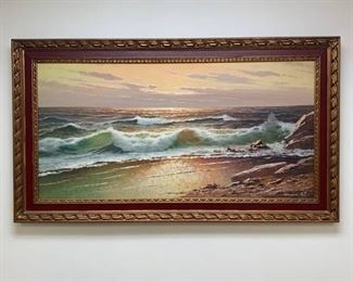 Guwe Signed Oil on Canvas