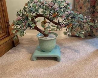 Mid Century Asian Glass Tree