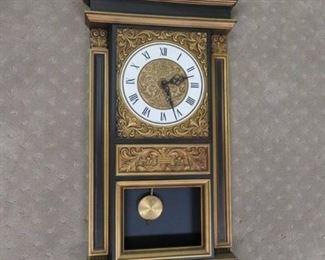 Mid Century Syroco One Pendulum Wall Clock