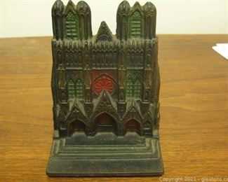 Vintage Wrought Iron Doorstep or Book End