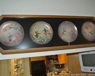 Wild Wings 4 Plate Framed Art