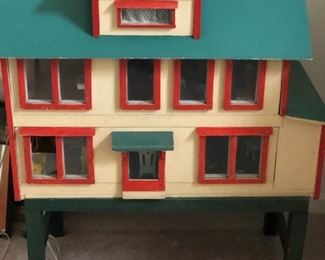 Antique hand made doll house with furniture