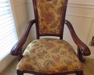 High End Carved Mahogany Formal Dining Chairs