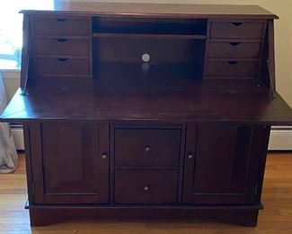 Crosley Sullivan Secretary Desk with 10 drawers