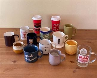 Various Mugs and Starbucks Recyclable Cups