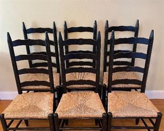 6-pieces Chair with Rattan Seaty