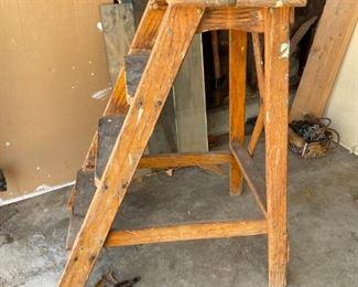 3 Step Wood Ladder