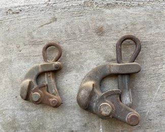 Pair of Klein & Sons Antique Vintage Haven Grip Wire Rope Cable Pullers