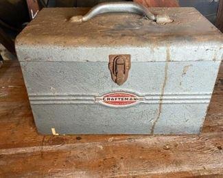 Vintage Craftsman Metal Drill Sander Tool Box **BOX ONLY**