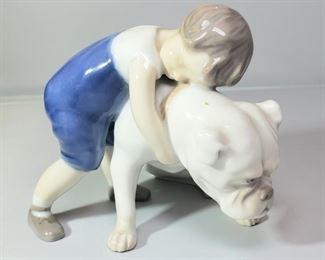 "B&G Royal Copenhagen Bing & Grondahl Figurine #1790 ""Two Friends"""