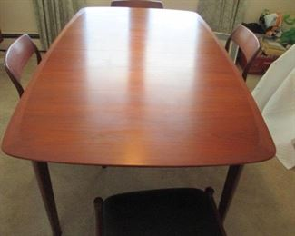 Westnofa Mid Century Modern Danish Complete Dining Room Suite 6 Chairs ~ 2 Arm Chairs ~ Credenza And China Cabinet
