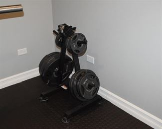 Weights and weight rack