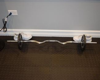 weight lifting bar