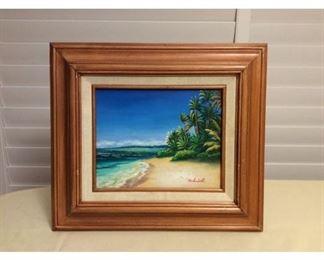 CCM006 Original Framed Painting Of Mokuleia Beach, Oahu