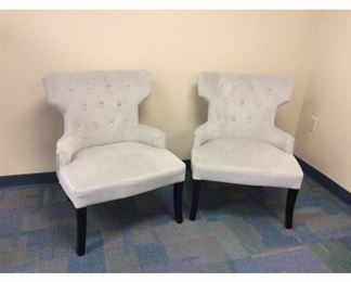 CCM011 Pair Of Gray Armchairs