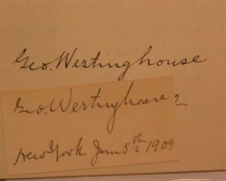 Geo. Westinghouse Two Signatures