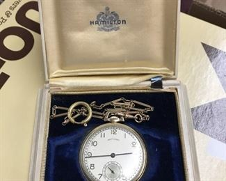 Hamilton Pocket Watch w Case