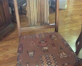 Fabric on dining chairs