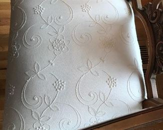Close up detail of dining chair seat cushions