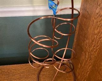 Heavy copper hanging Wine Botyle Holder
