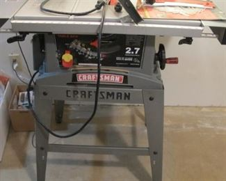 "Craftsman 2.7hp 10"" table saw & stand like new"