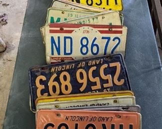 MANY pairs of license plates