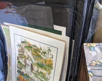 Print sleeves to hold artwork
