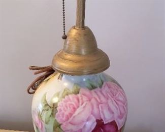 Limoge vase made into a lamp